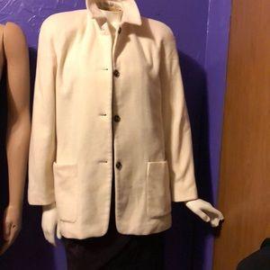 Harve Benard Winter White 65% Wool Jacket size 10